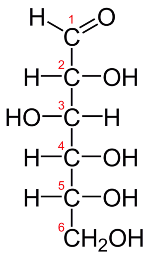 Fischer projection - D-glucose chain