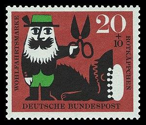 DBP 1960 342 Wohlfahrt Rotkäppchen