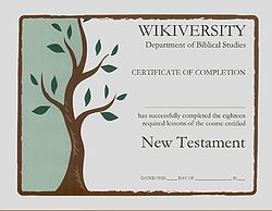 Biblical studies nt in conclusion wikiversity for Bible study certificate templates