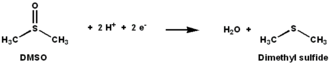 DMSO reductase - The reaction catalyzed by DMSO reductase.
