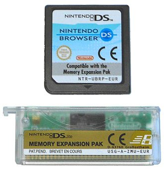 Nintendo DS & DSi Browser - European DS Browser cartridge and DS Lite expansion pak