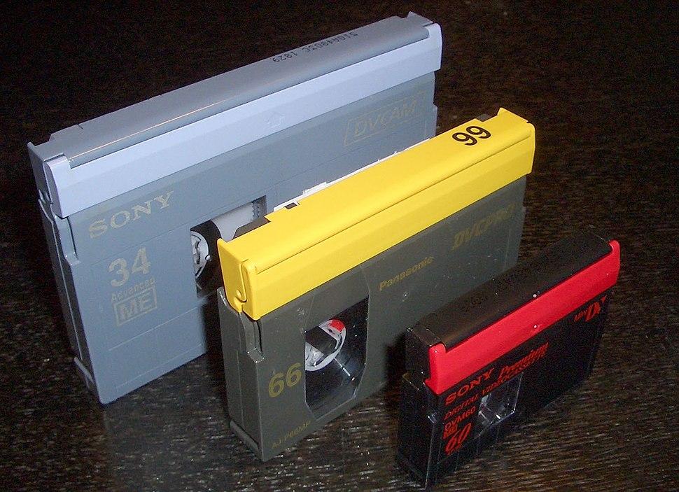 DV tape sizes 2