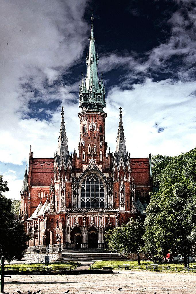 Eglise Saint Joseph sur le Rynek de Podgorze. Ville indépendante puis quartier de Cracovie en 1915. Photo de Daniel.zolopa.