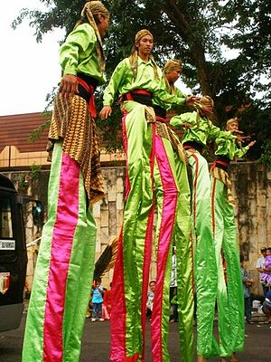 Karawang Regency - Karawang dancers on stilts