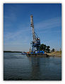 Danube river crane, Braila, Romania.jpg