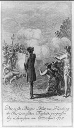 Das erste Bürger Blut, zu Gründung der americanischen Freyheit, vergossen bey Lexington am 19ten April 1775.jpg