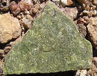 Geology of the Australian Capital Territory - Deakin Volcanics rhyodacite modified to green colour