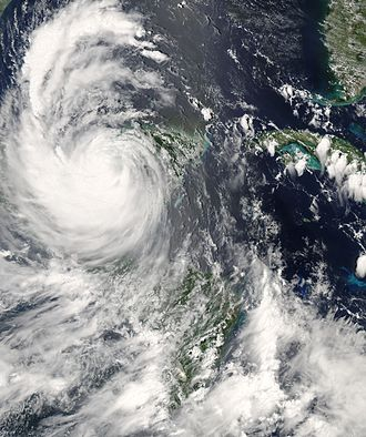 Hurricane Dean - Hurricane Dean over the Yucatán on August 21