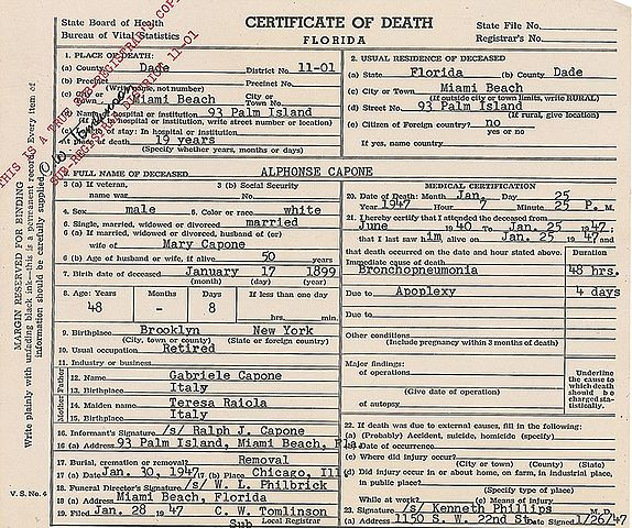 file:death certificate of al capone.jpg - wikimedia commons
