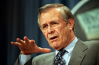 There are known knowns - Rumsfeld during a Pentagon news briefing in February 2002.