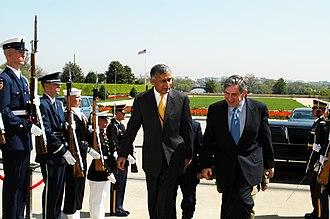 Shaukat Aziz - Aziz on a visit to United States