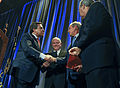 Defense.gov News Photo 110303-F-DQ383-005 - Former President of the United States George W. Bush and Secretary of Defense Robert M. Gates receive accolades during the Circle Ten Council Boy.jpg