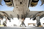 Defense.gov News Photo 111202-F-ZU607-074 - U.S. Air Force Senior Airman Steve Roeper a weapons technician with the 107th Expeditionary Fighter Squadron inspects and cleans a rack on an A-10.jpg