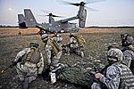 Defense.gov News Photo 120307-F-LG216-400 - U.S. Air Force airmen wait to load a simulated aircraft crash victim onto a CV-22 Osprey aircraft during Emerald Warrior at Hurlbert Field Fla..jpg