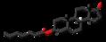 Dehydroepiandrosterone enanthate molecule skeletal.png