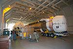 Delta Mariner offloading Atlas V launch vehicle for TDRS-L mission (KSC-2013-3773).jpg