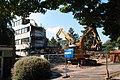 Demolition of former HIV research building (29032932125).jpg