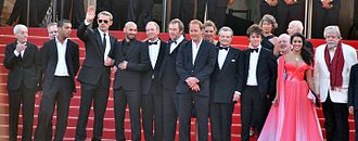 Of Gods and Men (film) - The film's cast and crew on the red carpet for the world premiere in Cannes