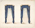 Design for Blue and Gold Curtains with Gold Fringes and a Gold Pediment MET DP807414.jpg