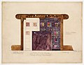 Design for mosaic mantel facing in residence of Mrs. Louis G. Kaufman, Short Hills, NJ MET 67.654.15.jpg