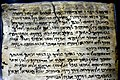 Detail, Dead Sea Scroll 175, Testimonia, from Qumran Cave 4, the Jordan Museum in Amman.jpg