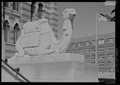 Detail of camel sculpture at entrance - Tripoli Shrine Temple, 3000 West Wisconsin Avenue, Milwaukee, Milwaukee County, WI HABS WI-367-2.tif