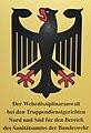 """Dienststellenschild """"Der Wehrdisziplinaranwalt bei den Truppendienstgerichten Nord und Süd für den Bereich des Sanitätsamtes der Bundeswehr"""".jpg"""