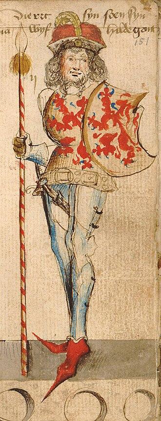 Dirk II, Count of Holland - Image: Dirk II, Count of Holland, by Hendrik van Heessel
