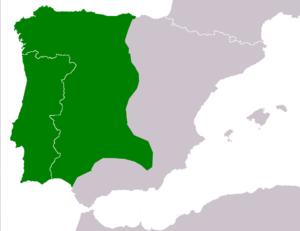 Iberian painted frog - Image: Discoglossus galganoi range Map