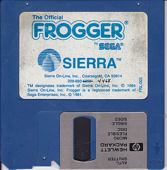 Frogger - Frogger disk by Sierra On-Line for IBM PC.