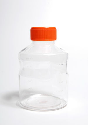 Disposable plastic bottle, Corning