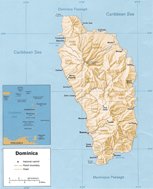 Geography of Dominica - Map of Dominica