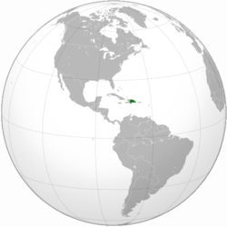 Location of Dominican Republic