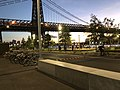 Domino Park, Brooklyn - Early Evening View - Bridge and Bicycles.jpg
