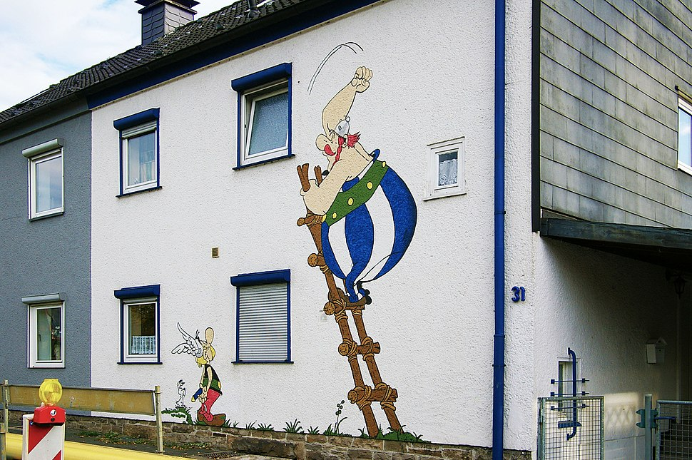 Doppelhausfassade in Hagen-Westf. IMGP8309