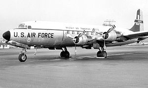 1705th Air Transport Group - Douglas C-118A Liftmaster 53-3268 1705 ATG MATS about 1956