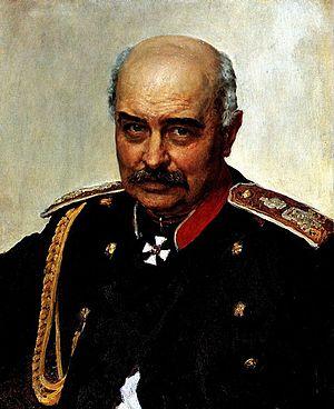 Mikhail Dragomirov - Portrait by Ilya Repin