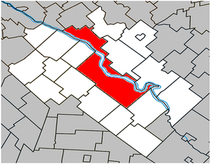 Drummondville - Image: Drummondville Quebec location diagram