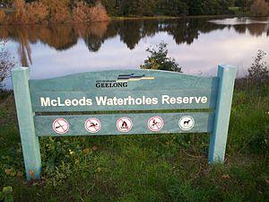 Drysdale, Victoria - McLeods Waterholes Reserve in Drysdale