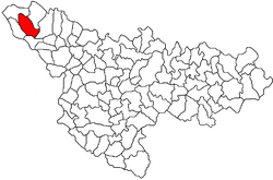 Location of Dudeștii Vechi