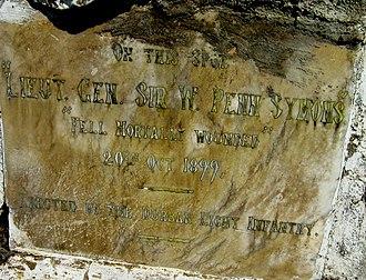 Penn Symons - Dundee Talana Museum Memorial tablet to Gen Sir William Penn Symons