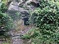 Dunton Cove, Scottish Covenanters artificial cave, Craufurdland Water, Ayrshire.jpg
