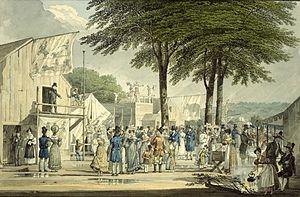 Dyrehavsbakken - Dyrehavsbakken in 1840