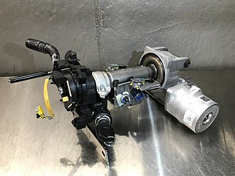 Power steering - A partially disassembled EPAS steering column