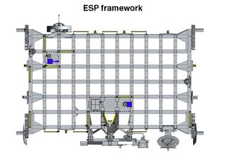 External stowage platform module