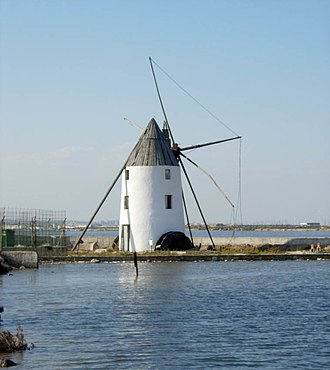 Campo de Cartagena - Typical windmill from Campo de Cartagena
