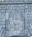 Eagle medallion and fasces pier carving - Arlington Memorial Bridge - 2013-09-30 (10887639024).jpg