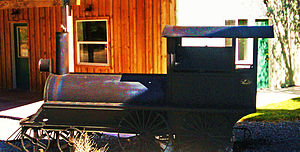 Early 19th Century locomotive in Ely, Nevada