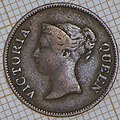 East India Company ¼ Cent 1845 - obverse.jpg