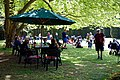 Easton Lodge Gardens, Little Easton, Essex, England outdoor café 01.jpg